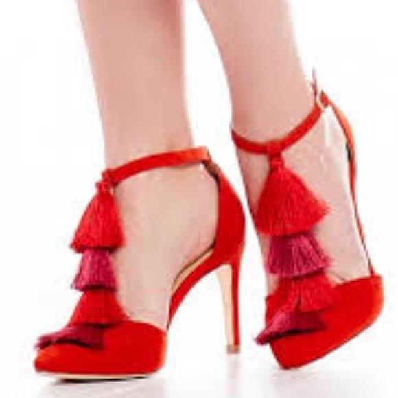 42e73b6aeb2 🔥NWT Antonio Melani Suede Multicolor Tassel Heels